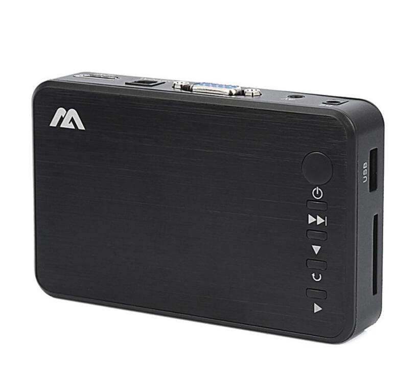 مصغرة كاملة HD وسائل الاعلام لاعب الوسائط المتعددة القراءة التلقائية 1080P USB HDD الخارجية ميديا بلاير لSD U القرص HDMI VGA الناتج AV FOR MKV RMVB