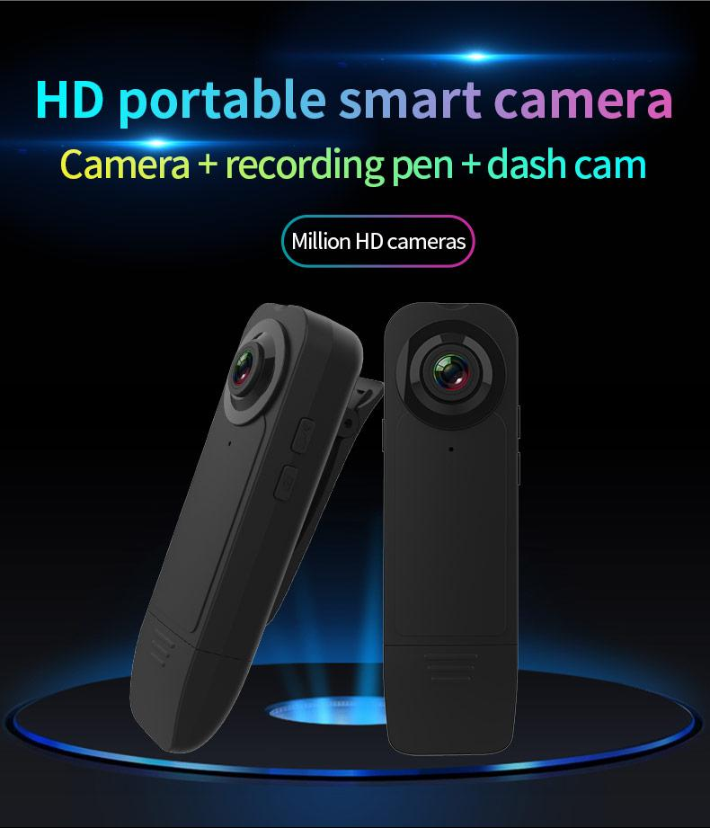 New Wearable HD 1080P Min clip Camera Video Recorder with Night Vision Motion Detection Small Security Cam for Home Outside Camcorder
