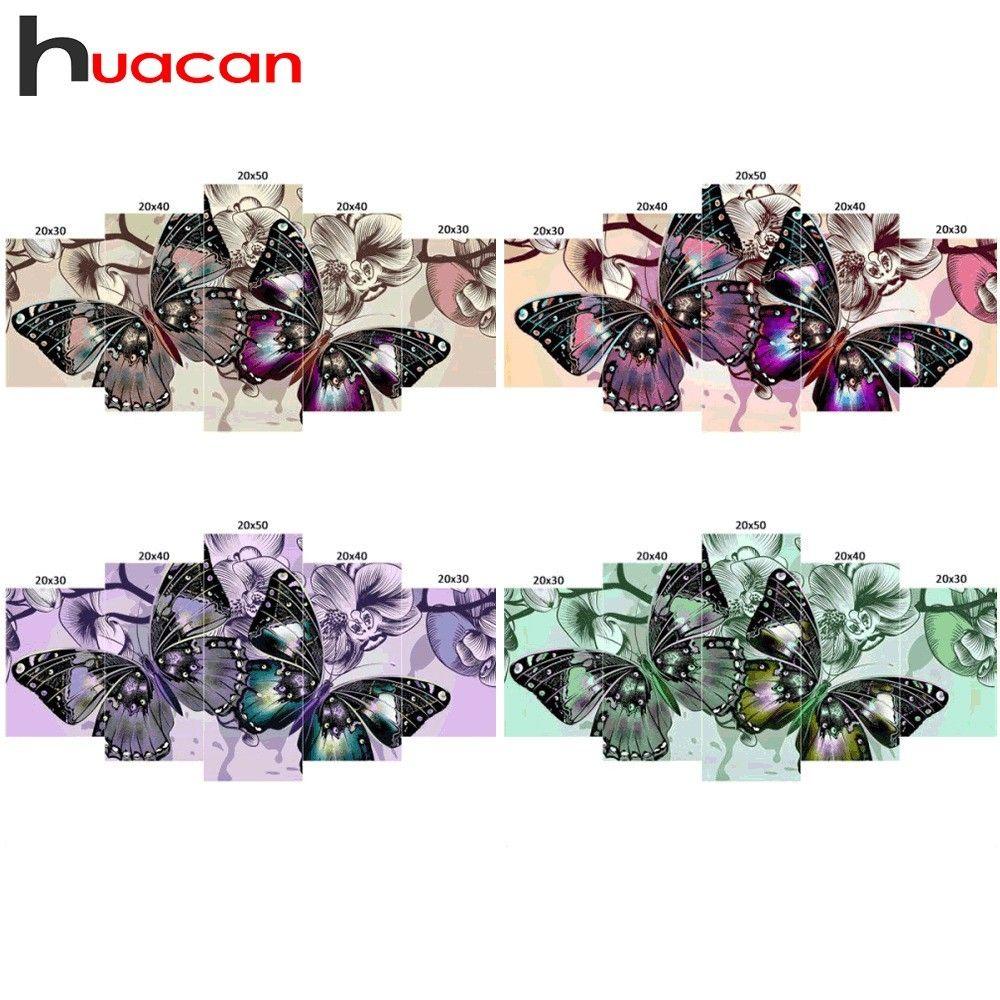wholesale Multi-picture Combination Diamond Painting Rhinestones Diamond Embroidery Sale Butterfly Cross Stitch Full Square Mosaic