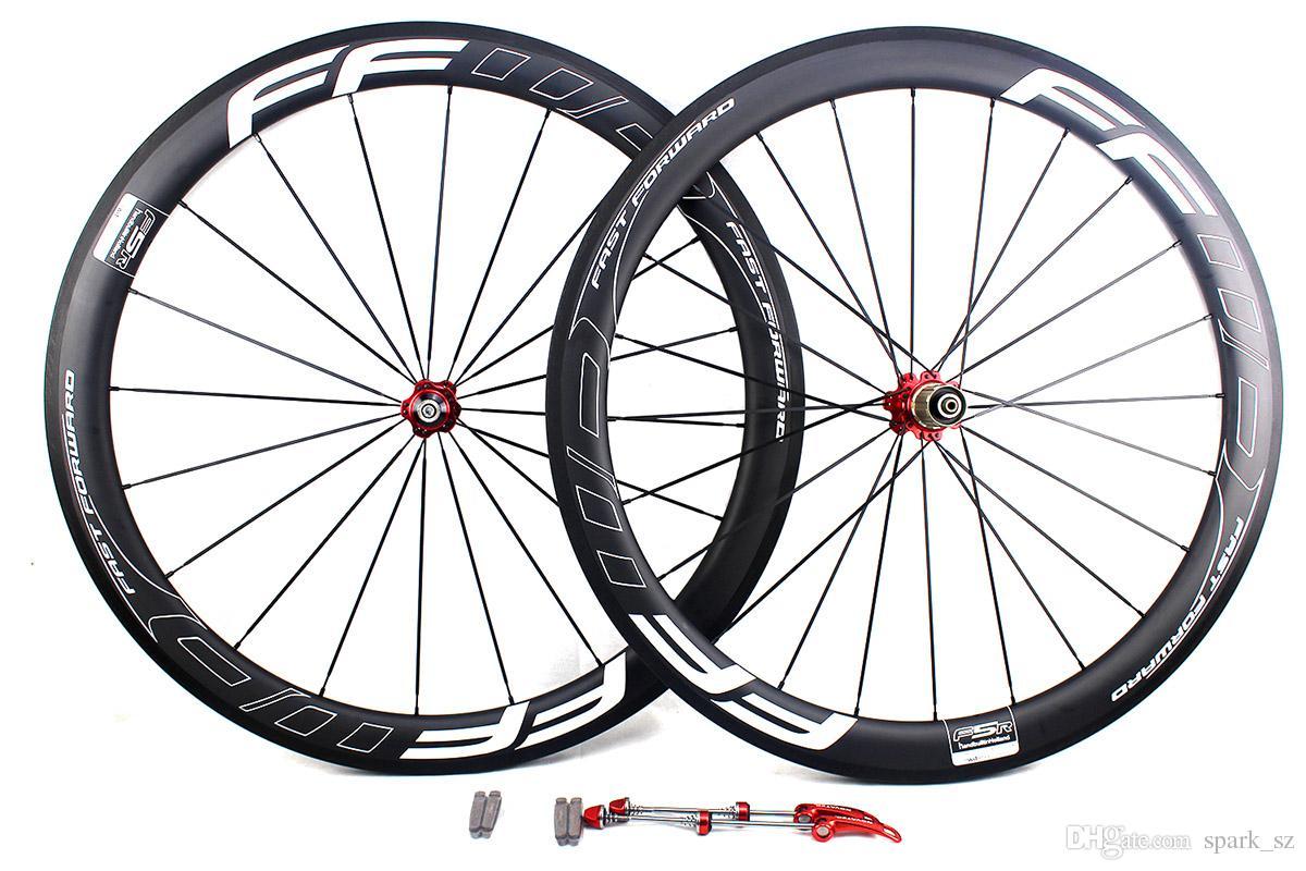 عجلات الدراجة الكربون 50 ملليمتر ffwd F5R الخط الأبيض حرف البازلت سطح الفرامل الفاصلة أنبوبي الطريق الدراجات دراجة العجلات عرض 25 ملليمتر ud مات