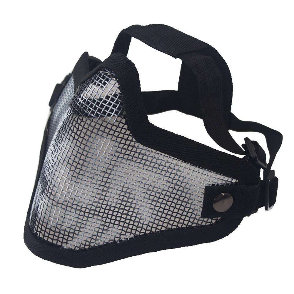 Bisiklet bisiklet maskesi Koruyucu Taktikler Kafatası Yarım Yüz Taktik Airsoft Askeri Militar Strike Bisiklet Aksesuarları Maskesi