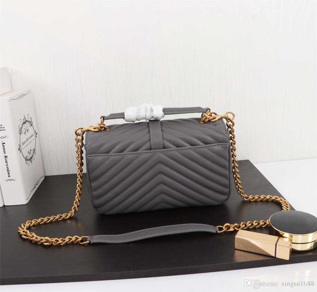 Spedizione gratuita! Vendita calda 2020 modo di disegno di marca Messenger Bag in pelle borse a spalla per la femmina Designer Tote Bag Purse 24cm