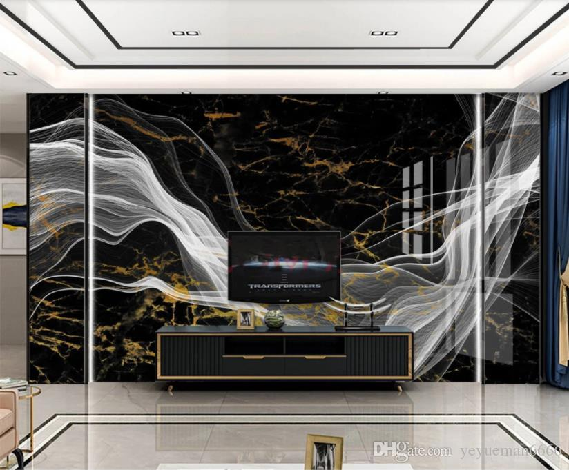 заказ 2020 обои для стен 3 d Мраморной живописью настенной фон фото обоев 3d