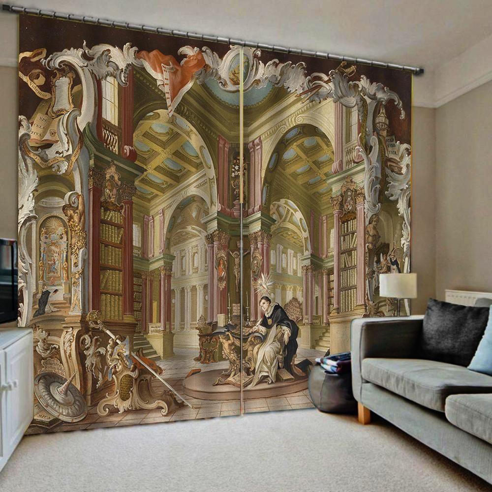 3D Finestra tende del soggiorno camera da letto di nozze Cortinas tende europa tenda angelo