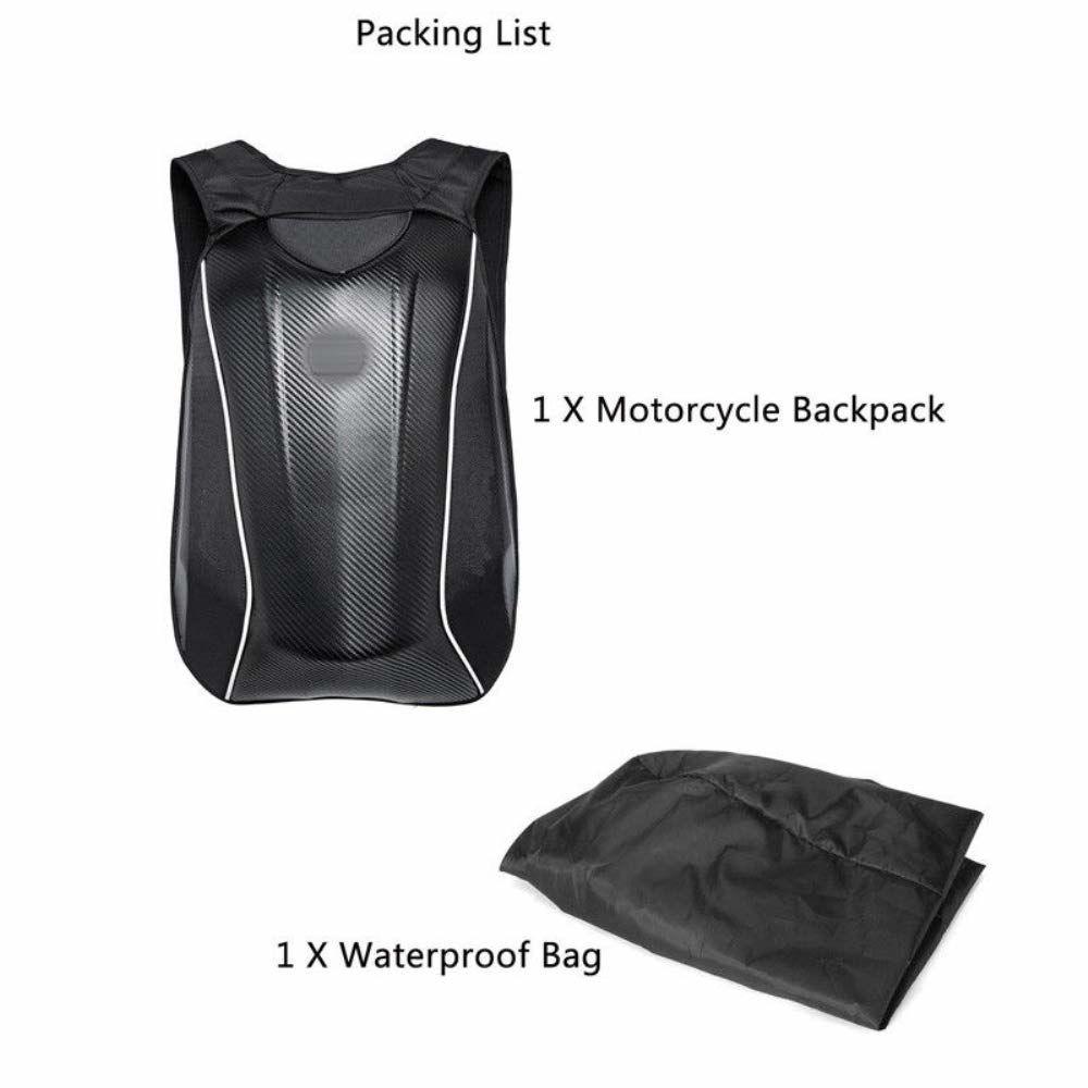 "18.5"" Travel Universal Motorcycle Backpack Carbon Fiber Motocross Riding Racing Storage Knight Bag Satchels"