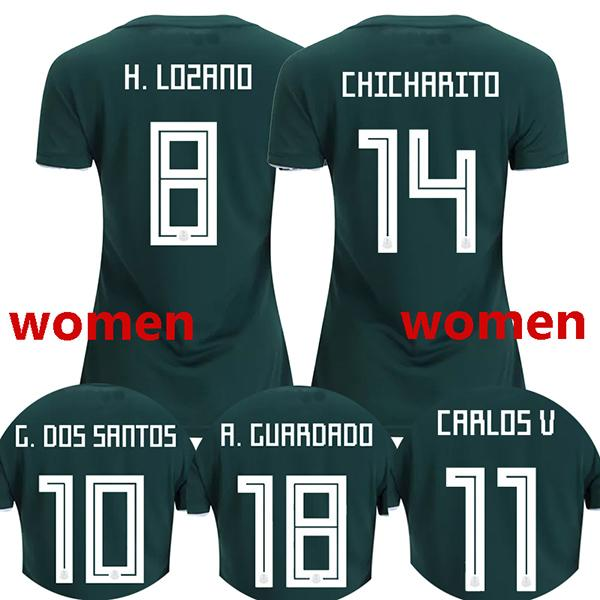 save off b2843 7cd58 2019 2018 Women Mexico Soccer Jerseys HIRVING LOZANO Football Shirt World  Cup GUARDADO G.DOS SANTOS Mexico Girl Camisetas CHICHARITO Maillot From ...