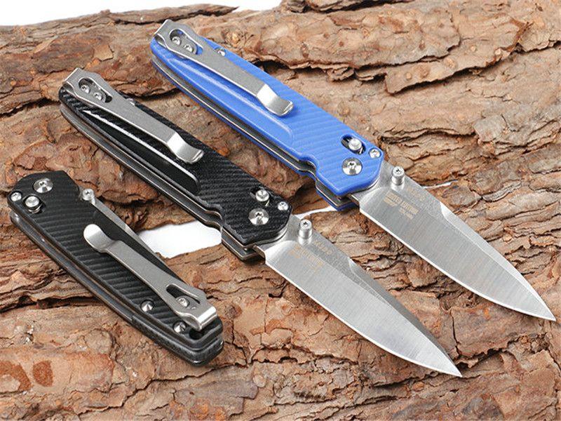 Recomendar bloqueo del eje 485 mariposa 3 modles cuchillo OEM EDC del bolsillo cuchillo al aire libre de la supervivencia cuchillo que acampa caja original cuchillos plegables regalo