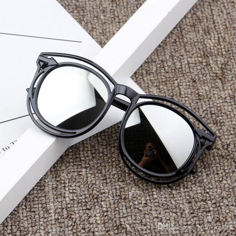 2020 새로운 디자이너 여러 색상 아이 패션 코팅 선글래스 소녀 소년 플라스틱 프레임 UV400 선글라스 야외 거리 복고풍 안경 거울