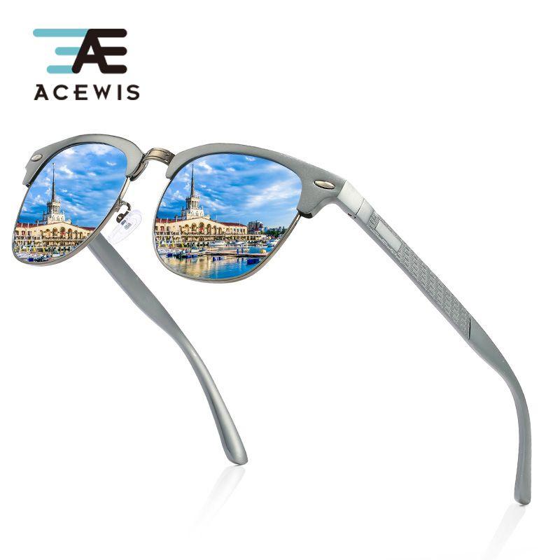ACEWIS Men Vintage Aluminium Magnesium Alloy Polarized Sunglasses Classic Coating Lens Driving Shades For Men 04X free shipping