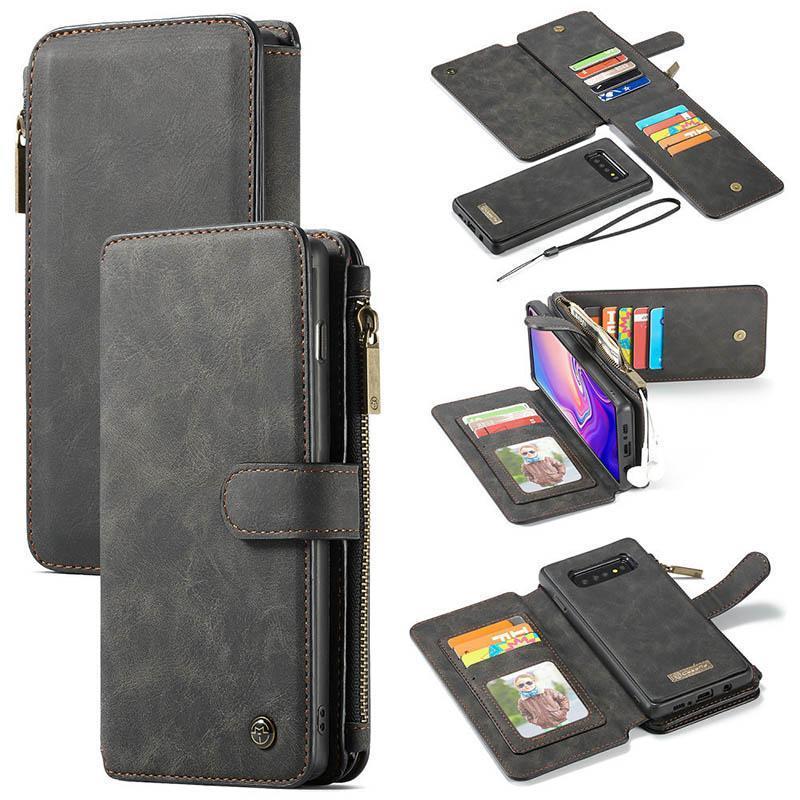 De lujo del tirón del cuero de teléfono ranura del caso para Samsung Galaxy Nota 10 S10 5G S10e Note9 S8 con la tarjeta caliente