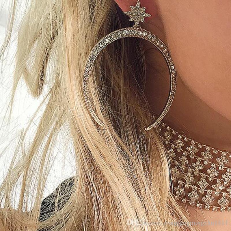Moda Mini Star donne orecchini stile celtico collana di gioielli orecchino partito notturno esagerato Stud Night Club