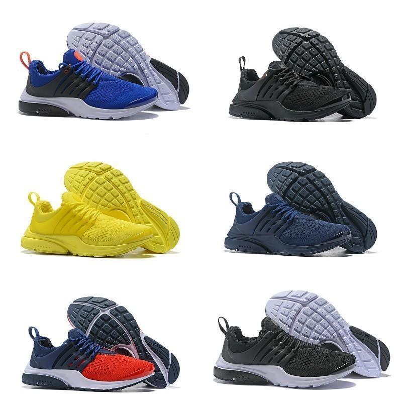 Caliente Venta 2019 Nueva Presto 5 Hombres Mujeres Run Zapatos del amortiguador de aire prestos Ultra Zapatos BR QS Tp Amarillo Rosa Oreo Negro Deportes mosca de la manera jogging