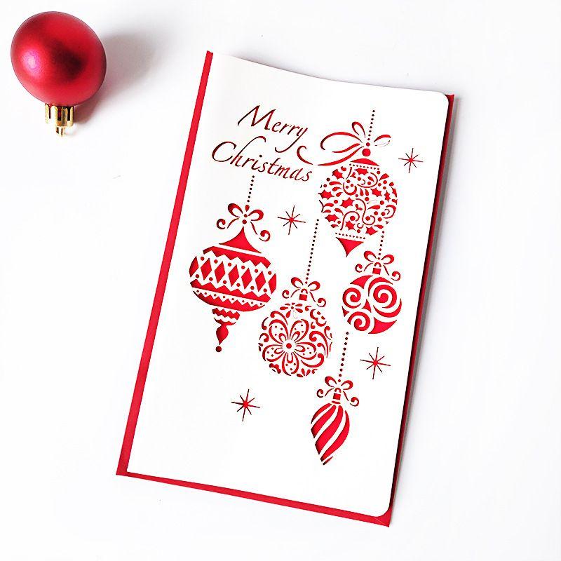 Esvaziamento Cartão Ano Novo felicitações do Natal Cartões de cervos pequeno sino Partido Holiday Gift Suprimentos 0 85yf UU