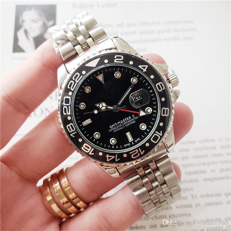 2020 고품질 디자이너는 패션 명품 시계 기계적인 움직임이 고급 남성 시계 MONTRE 드 럭셔리 RLX GMT 시계 시계