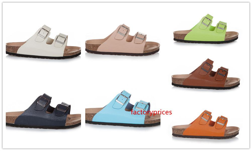 Новая известная марка Nevada Cork тапочки с пряжкой для мужчин и женщин плоские сандалии Брик Casual Summer Подлинные кожаные тапочки размер 35-46