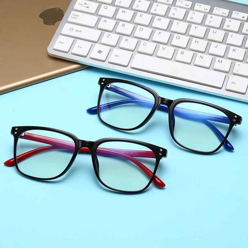 2020 جديد نظارات أيون سلبية TR90 إطار مكافحة الإشعاع إطار الرجعية الأزرق نظارات عادية الرجال والنساء نظارات شمسية