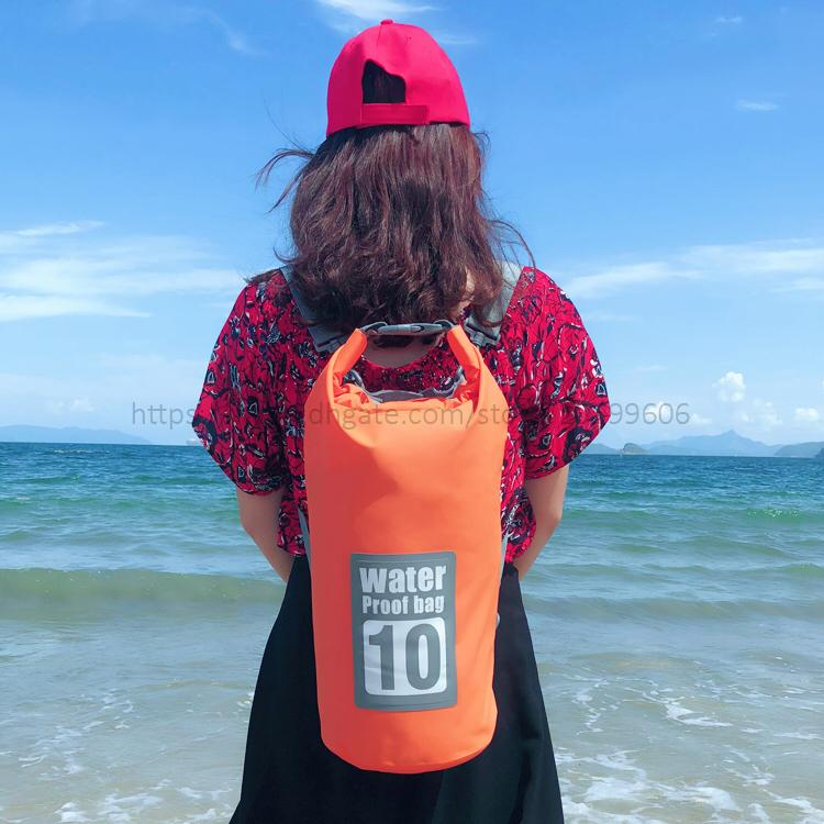 Outdoor Travel Waterproof Dry Bag Ocean pack Backpack For Hiking Climbing Boating Drifting River Trekking Fishing Cycling Beach bag 10L