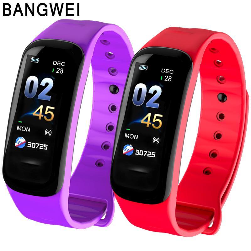 2019 BANGWEI Sport Smart Watch Men Women LED Color Screen Smart Bracelet Heart rate Monitor Alarm Clock Vibration Seated Memory