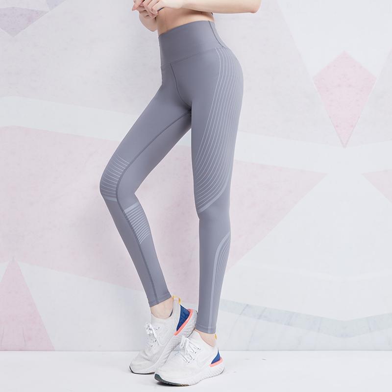 cintura alta calças de fitness feminina nádega sexy stretch fino firmemente usando exercício de corrida calças de treinamento de ioga