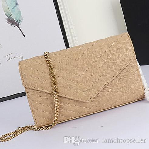 Caviar Leather High Quality fashion Designer Purse Women Luxury Chain Bags Luxury Purse Fashion Shoulder Bags Message Bags