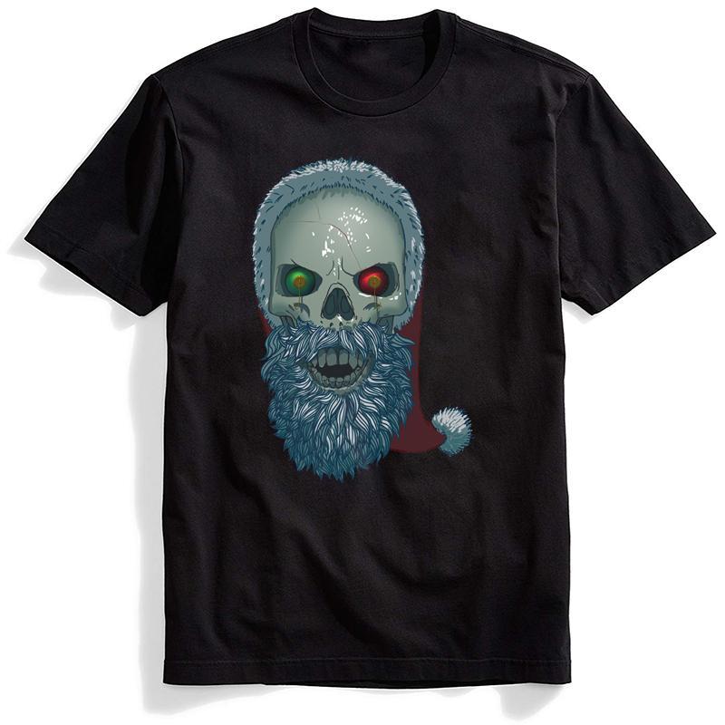 Babbo Skull T shirt O-Collo corto Ulzzang Mens magliette Harajuku di Hip Hop Graphic Tee Streetwear