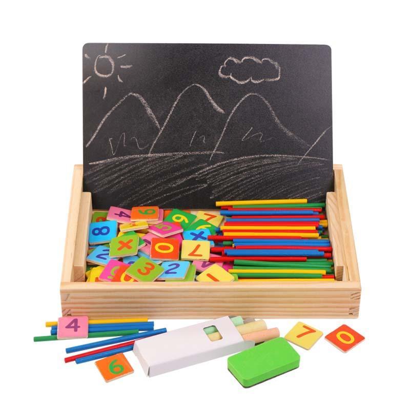 Mathematische Wissensklassifizierung Spielzeug Holzkiste Kognitive Passende Kinder Montessori Frühe pädagogische Spielzeug für Kinder
