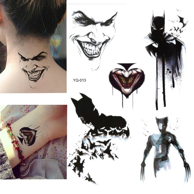 Batman Temporary Tattoo Stickers For Kids Boys Superheros Union Fake Flash Waterproof Tattoo Design Your Own Temporary Tattoos Designer Temporary