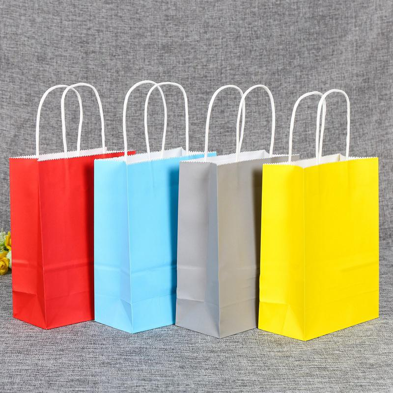2020 pieces/lot new arrival High Quality Wholesale Free shipping fashion kraft paper shopping bag, gift handle paper bag
