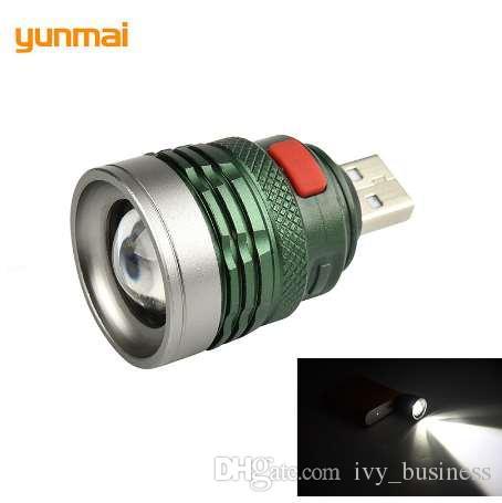 USB 휴대용 충전 랜턴 컴퓨터 라이트 3 모드 독서 램프 USB 인터페이스 미니 플래시 라이트 Q5 Linterna 토치 바이 파워 뱅크