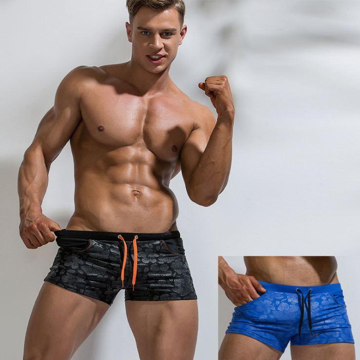 Yeni marka Erkek yüzün Sandıklar tasarımcı Slim Fit Sörf Sandıklar yaratıcı Mayo Maillot De Bain plaj kıyafeti Ücretsiz Kargo mens