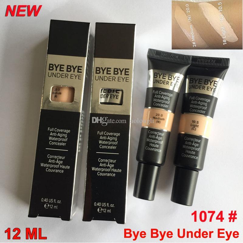 Nova Versão Bye Bye sob olho Concealer creme Cobertura completa fundação Eye Primer Luz Medium 2 Sombra Maquiagem Corretivo Waterproof