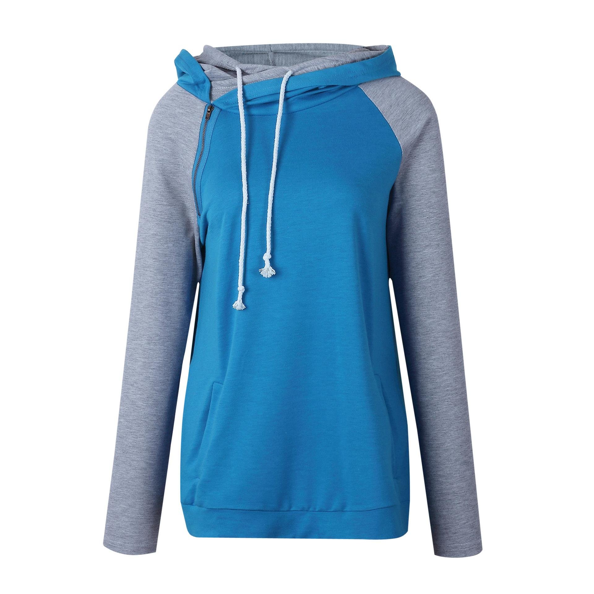 Neue stil persönlichkeit mode freizeit reißverschluss spleißen hoodie jacke 0604 #