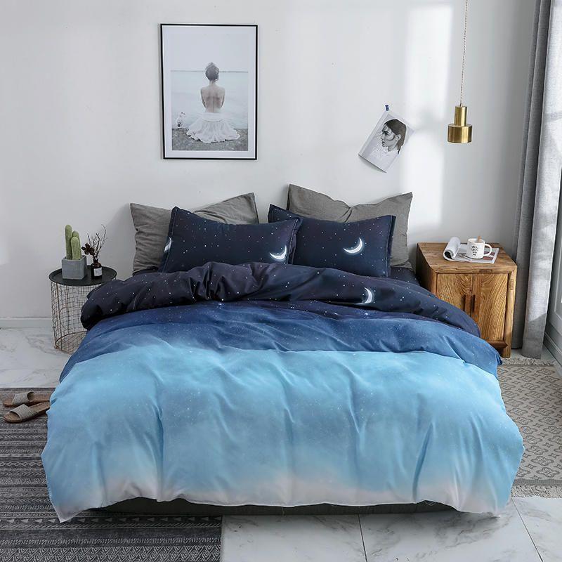 BEST.WENSD Galaxy Lua Set cama Super King Duvet Cover Sheet Set Colcha Bed Clothes cama cobrir Roupa De Cama