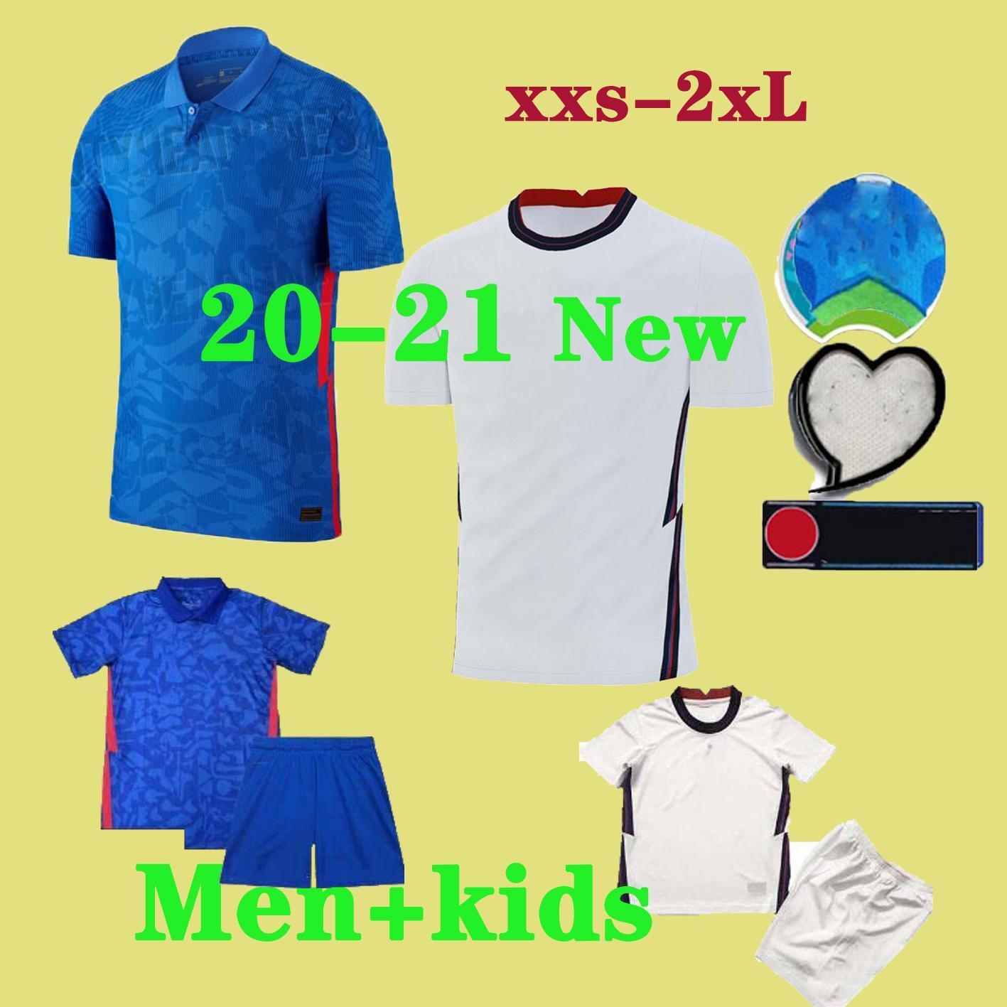 20-21 İngiltere Futbol Formalar KANE İngiltere Mens Jersey Çocuk Seti RASHFORD Futbol Gömlek STERLING VARDY DELE Futbol Gömlek