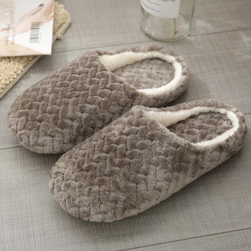 Maison Chaussons Fourreau sur antidérapants Fleur intérieur Chaussures Casual chaud Chaussons de neige Slipper Sandales P1