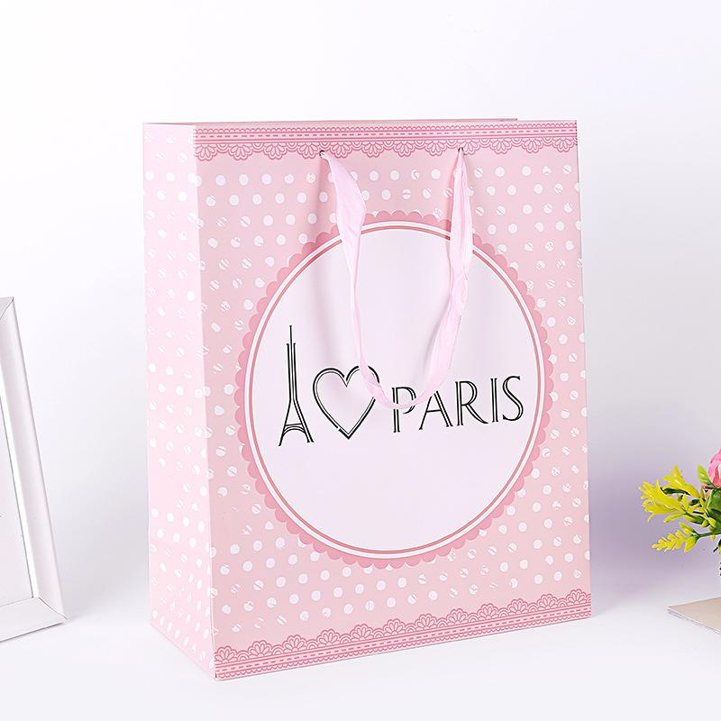 Hipster Carry Bag Packing Bags Custom Packaging Gift Bag Medium and Small White Cardboard Boutique Carry Shopping