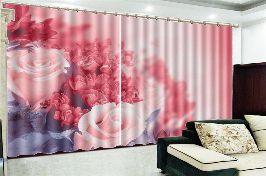 Blackout Curtain Preis der schönen und zarten Blumen Figur Dekoration Wohnzimmer Schlafzimmer Practical Verdunkelungs