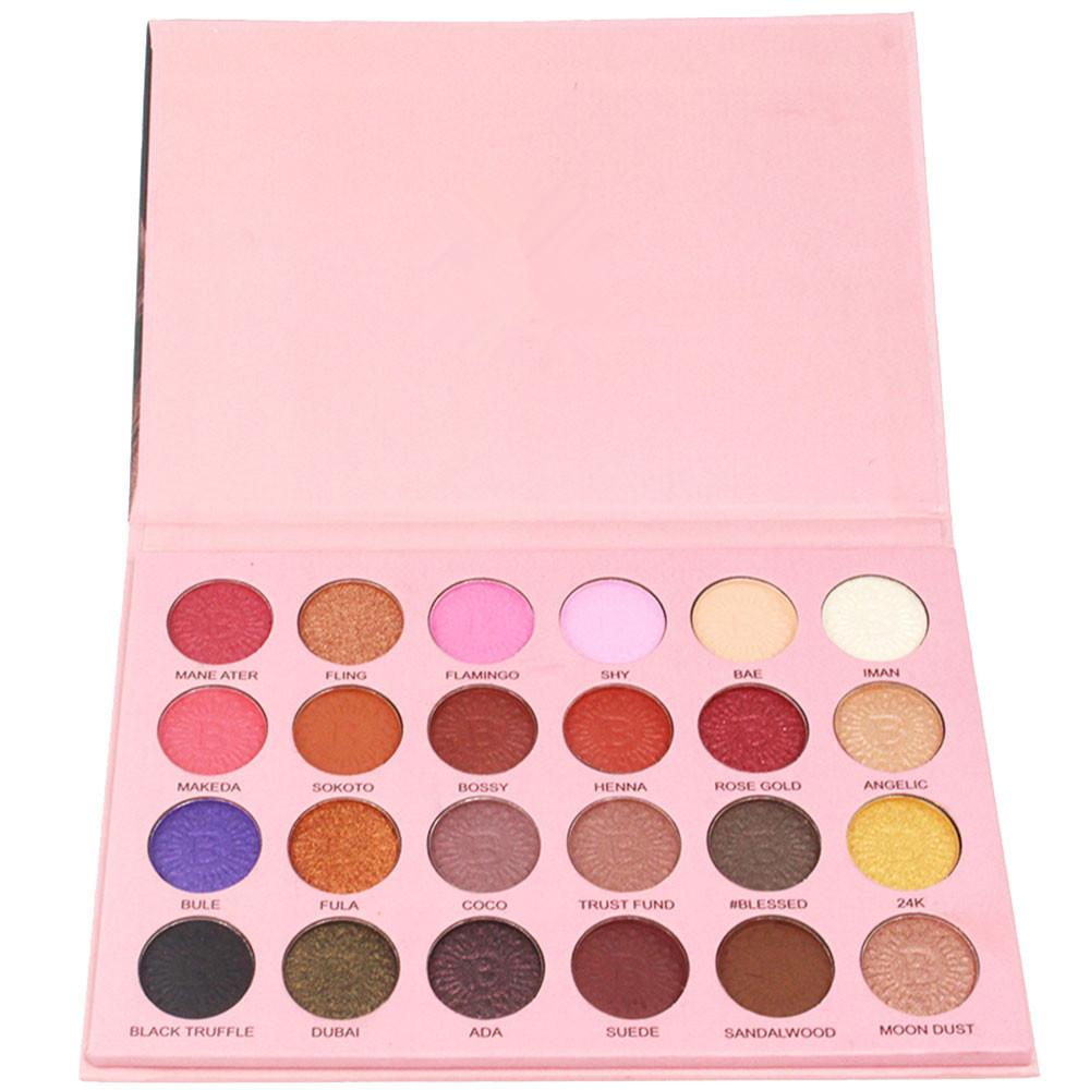 24 Color Shimmer Glitter Eye Shadow Powder Matt Eyeshadow Cosmetic Makeup Profesional Cosmetics Tool Make Up Set