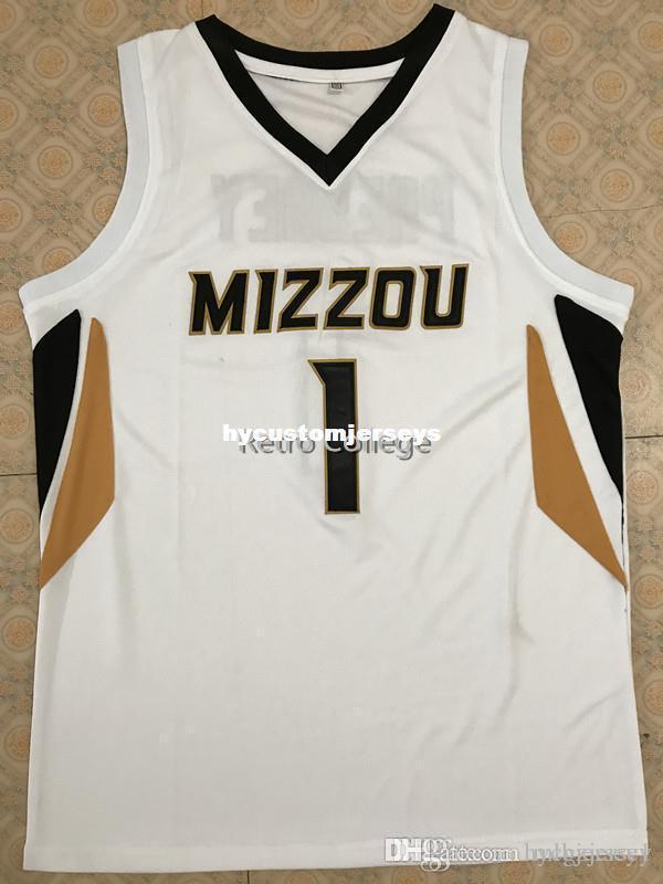 #1 Фил Пресси Миссури Тигры баскетбол Джерси все размер вышивки сшитые настроить любое имя и название XS-6XL жилет трикотажные изделия Ncaa