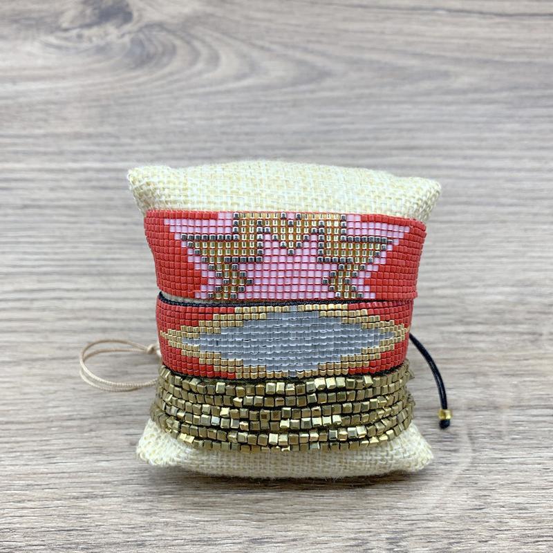 SHINUSBOHO 2020 Red Lady Браслет MIYUKI Лаки Браслет Мексиканский браслет ювелирных изделий Золотой Кристалл Pulsera Mujer Moda 2020 кисточкой