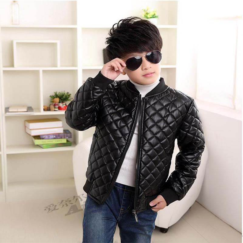 2018 New Boys Coats Faux Leather Jackets Children Fashion Spring And Autumn Outerwear PU Light And Thin Zipper Motorcycle Jacket