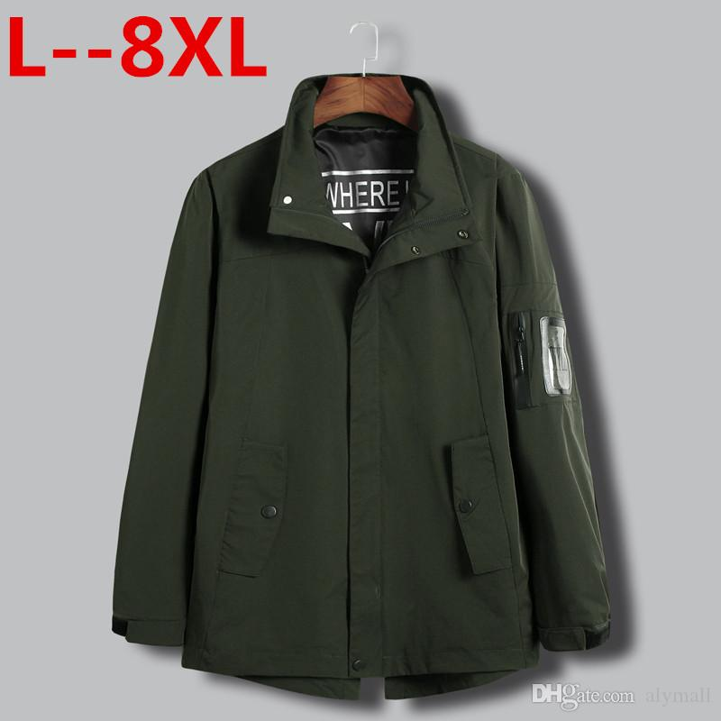 Big size 8XL 6XL 5XL 4XL Jacket Men Fashion Casual Loose Mens Jacket Sportswear Bomber Jacket Mens jackets and Coats Plus Size