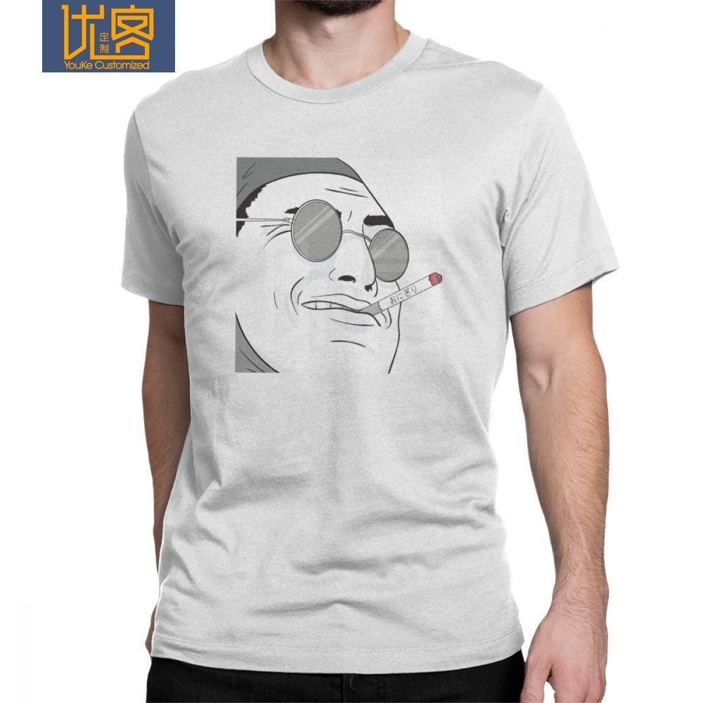 Rahat Pis Frank T-Shirt Erkekler Saf Pamuk T Gömlek Joji Pembe Guy Meme Japon Youtube Kısa Kollu Tees Artı Boyutu Giyim