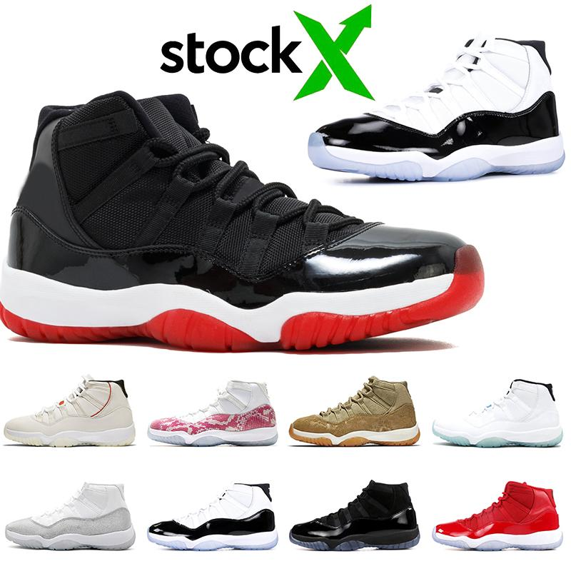 Concord Black Red Bred 11s basketball shoes women men 11 Jumpman Vast Grey Metallic Silver 11s sports sneakers