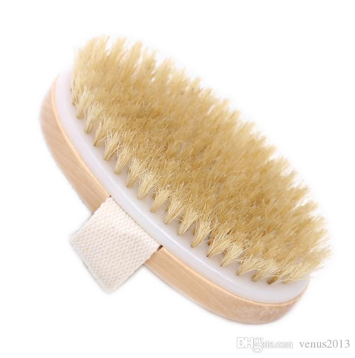 Wholesale- Hot Dry Skin Body Natural Bristle Brush Soft SPA Brush Bath Massager Home Popular New