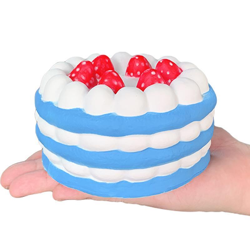 Jumbo Strawberry Cake mole Simulação PU Pão lenta Nascente Squeeze brinquedo macio doce Perfumado para Crianças presente de aniversário do divertimento