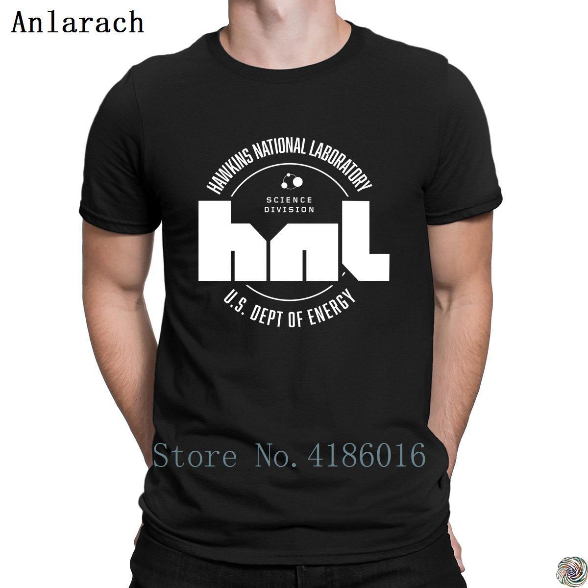 Hawkins National Laboratory t-shirt superiore Primavera Autunno elegante migliore maglietta per i vestiti degli uomini del O-Collo Anlarach Creatura