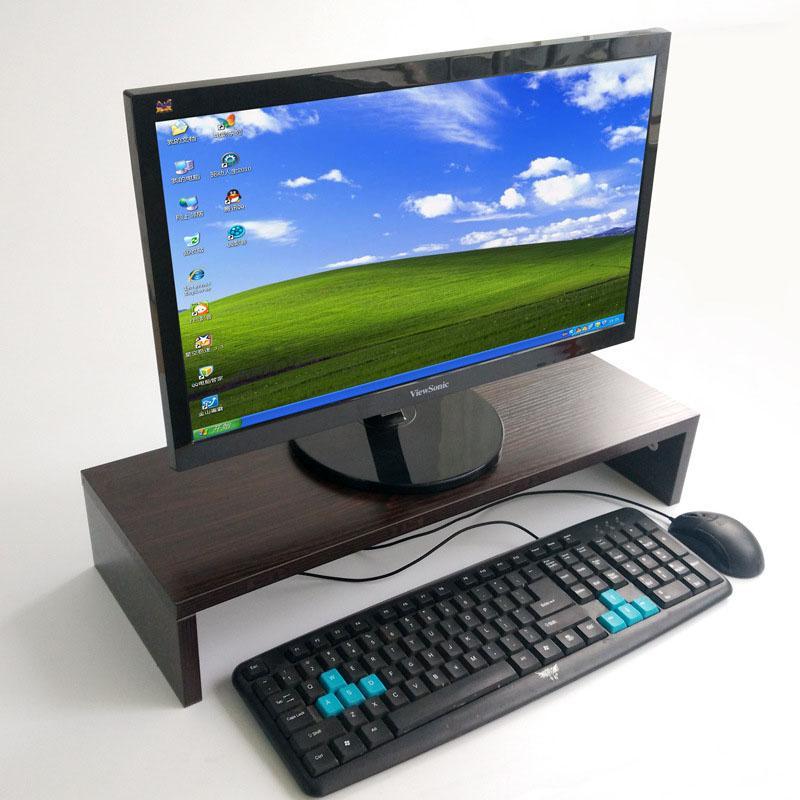 Holz Desktop-Monitor Stand Riser-Halter Tastatur Basis Storage Rack Kleines Bücherregal verdickte Brett Laptop Regal