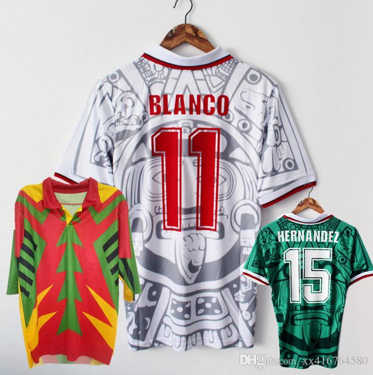 Acquista Maglia Da Calcio Del Messico Retrò Del 1998 CAMPOS BLANCO HERNANDEZ 1994 Portiere In Casa Maglia Da Calcio Retrò S 2XL A 11,73 € Dal ...