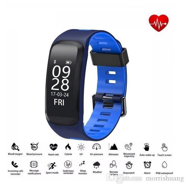F4 Armband Bunt Sport Smart-Armband IP68 wasserdichter Band Herzfrequenz-Blutdruck-Blut-Sauerstoff-Monitor für IOS Android